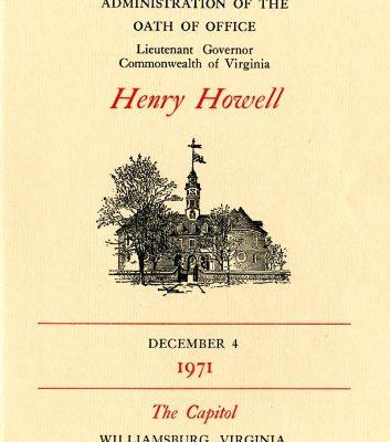 Henry Howell, 1971