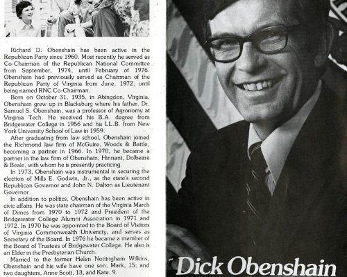 Dick Obenshain, 1978