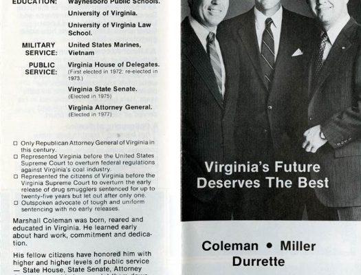 Marshall Coleman, 1981