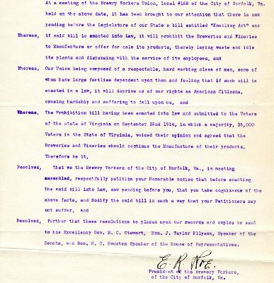 From the Executive Papers of Governor Westmoreland Davis, 1918-1922