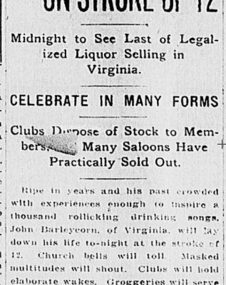 The Richmond Times Dispatch, 31 October 1916.