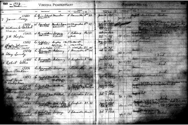 Entry 17831, William Oehlert, Prisoner Register No. 11