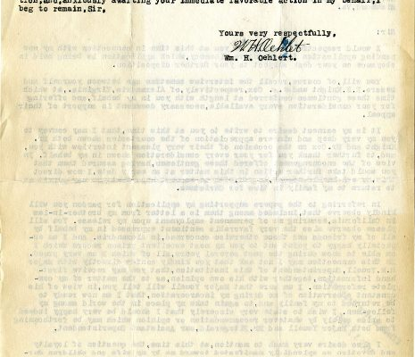 Letter from W. E. Oehlert, dated 13 December 1934, to Governor George C. Peery (page two of two)