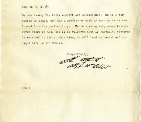 Letter from Howard W. Smith, dated 12 February 1914, to Governor Henry C. Stuart,