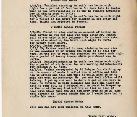 Letter from Sgt. M. C. Russell, dated 16 December 1933, to W. F. Smyth, Page 2