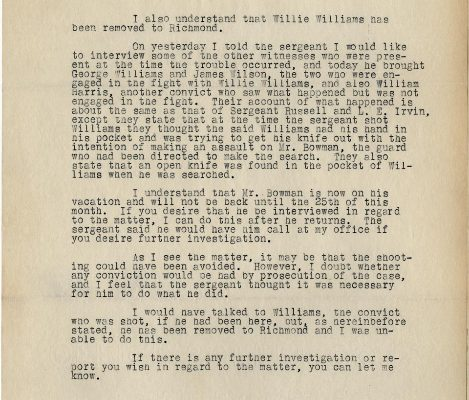 Letter from  William B. Kegley to Superintendent R. W. Youell, dated 19 January 1934, Page 2