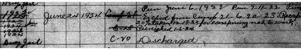 Entry No. 17280, Willie Williams, Prisoner Register No. 11 (enlargement, page 2)
