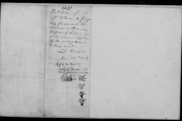 Page 3, Tatum, Nathaniel & Isham: Petition, Madison County, 10 December 1857, Legislative Petitions