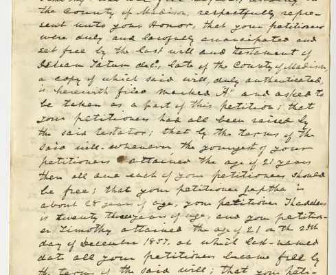 Page 1, Madison County (Va.) Petitions for Reenslavement