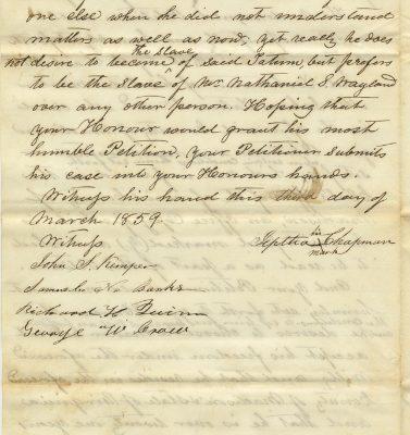 Jeptha Chapman petition, page 2