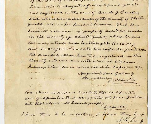 Page 1, Chesterfield County (Va.) Petition of Augustus Gordon, 1853