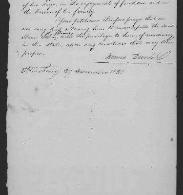 Page 2, Legislative Petition of James Dunlop, 1821