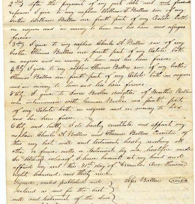 Will of Jesse Barlow, 1845, p. 1.