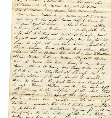 Will of Jesse Barlow, 1845, page 2.