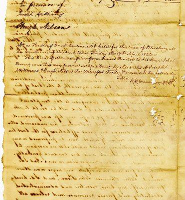 Page 2, Petersburg (Va.) Deed of Manumission, John Dunlop to John alias John Brown, 1822