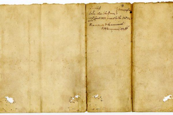 Page 3, Petersburg (Va.) Deed of Manumission, John Dunlop to John alias John Brown, 1822