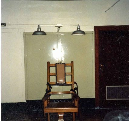 Photograph of Electric Chair, Death Chamber, Virginia Penitentiary