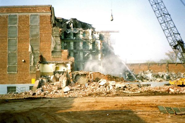 Photograph of Demolition of B Building, Virginia Penitentiary, August 1991
