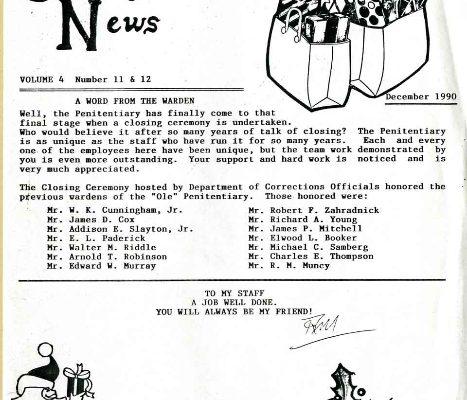Penitentiary Employee News, December 1990