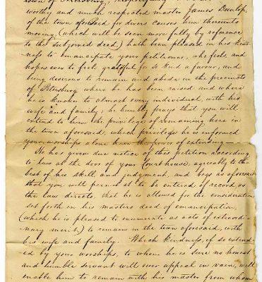 Page 1, Petersburg (Va.) Petition of John Brown, 1822