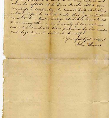 Page 2, Petersburg (Va.) Petition of John Brown, 1822