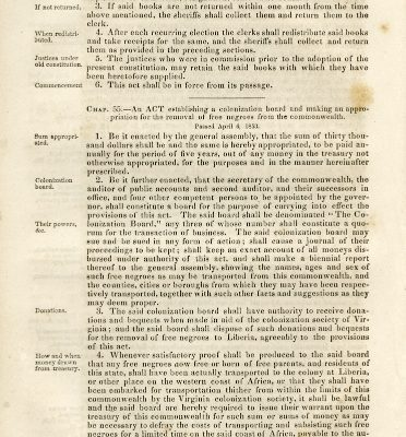 Act of General Assembly, 1852-1853