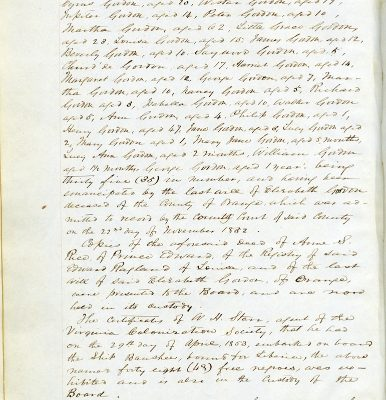 Journal of Proceedings of the Virginia Colonization Board, 2 May 1853