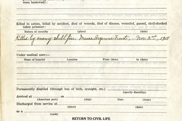 Clarence A. Bryce (1889-1918) Questionnaire,, Page 3