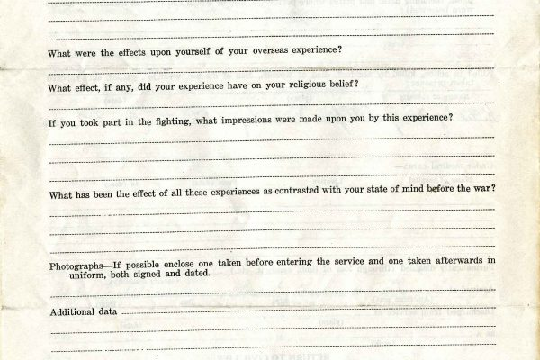 Clarence A. Bryce (1889-1918) Questionnaire,, Page 4