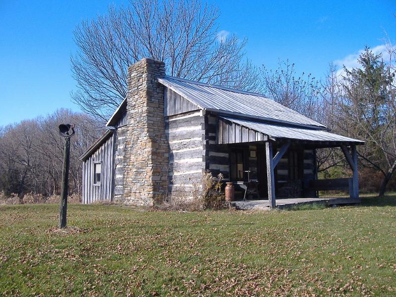 Samuel Lyle log cabin, Hillsboro, Ohio