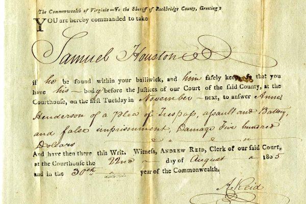 Henderson v Houston, March 1806, Judgment