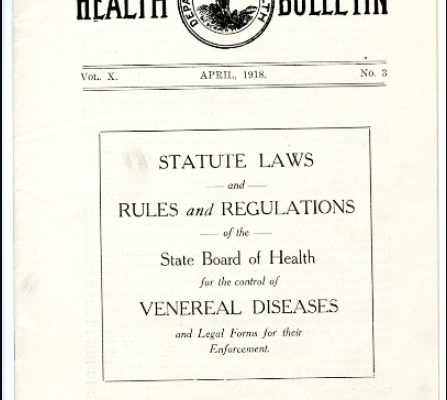 Health Bulletin, 1918, Box 257a, Folder 1. Virginia War History Commission, Series XIV: Second Virginia Council of Defense, 1917-1921, 1923-1924. Accession 37219, State Records Collection, The Library of Virginia.