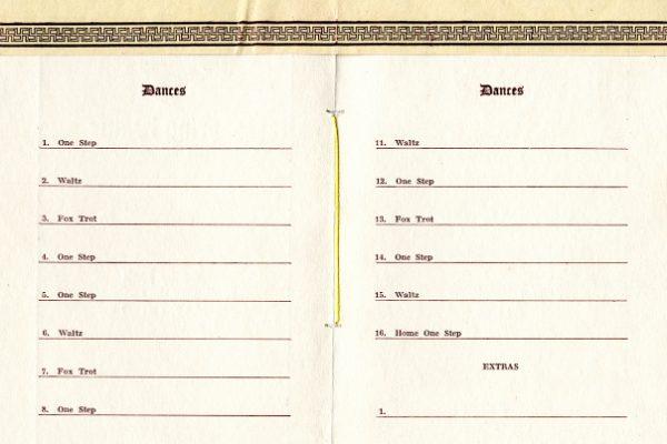 """Company 'D', 8th Regular Division Motor Supply Train, Farewell Dinner Program, Camp Lee, VA, January 15, 1919"", Page 2-3"