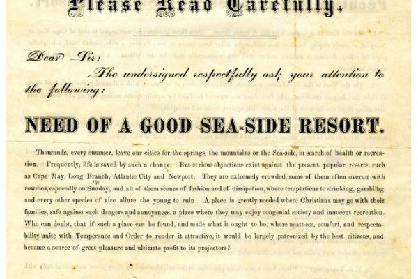 Advertisement, p. 1. Accomack County, Chancery Cause, 1876-038, William McGeorge, Jr. etc. versus Talmadge F. Cherry, etc. Local Government Records Collection, Library of Virginia, Richmond, VA.