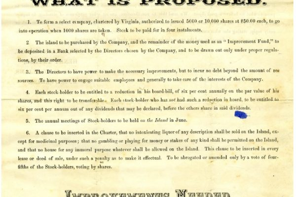 Advertisement, p. 3. Accomack County, Chancery Cause, 1876-038, William McGeorge, Jr. etc. versus Talmadge F. Cherry, etc. Local Government Records Collection, Library of Virginia, Richmond, VA.