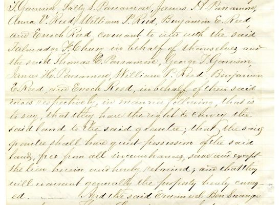 Deed, p. 4. Accomack County, Chancery Cause, 1876-038, William McGeorge, Jr. etc. versus Talmadge F. Cherry, etc. Local Government Records Collection, Library of Virginia, Richmond, VA.
