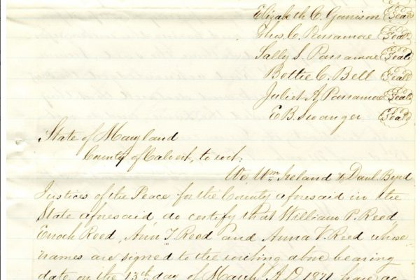 Deed, p. 5. Accomack County, Chancery Cause, 1876-038, William McGeorge, Jr. etc. versus Talmadge F. Cherry, etc. Local Government Records Collection, Library of Virginia, Richmond, VA.