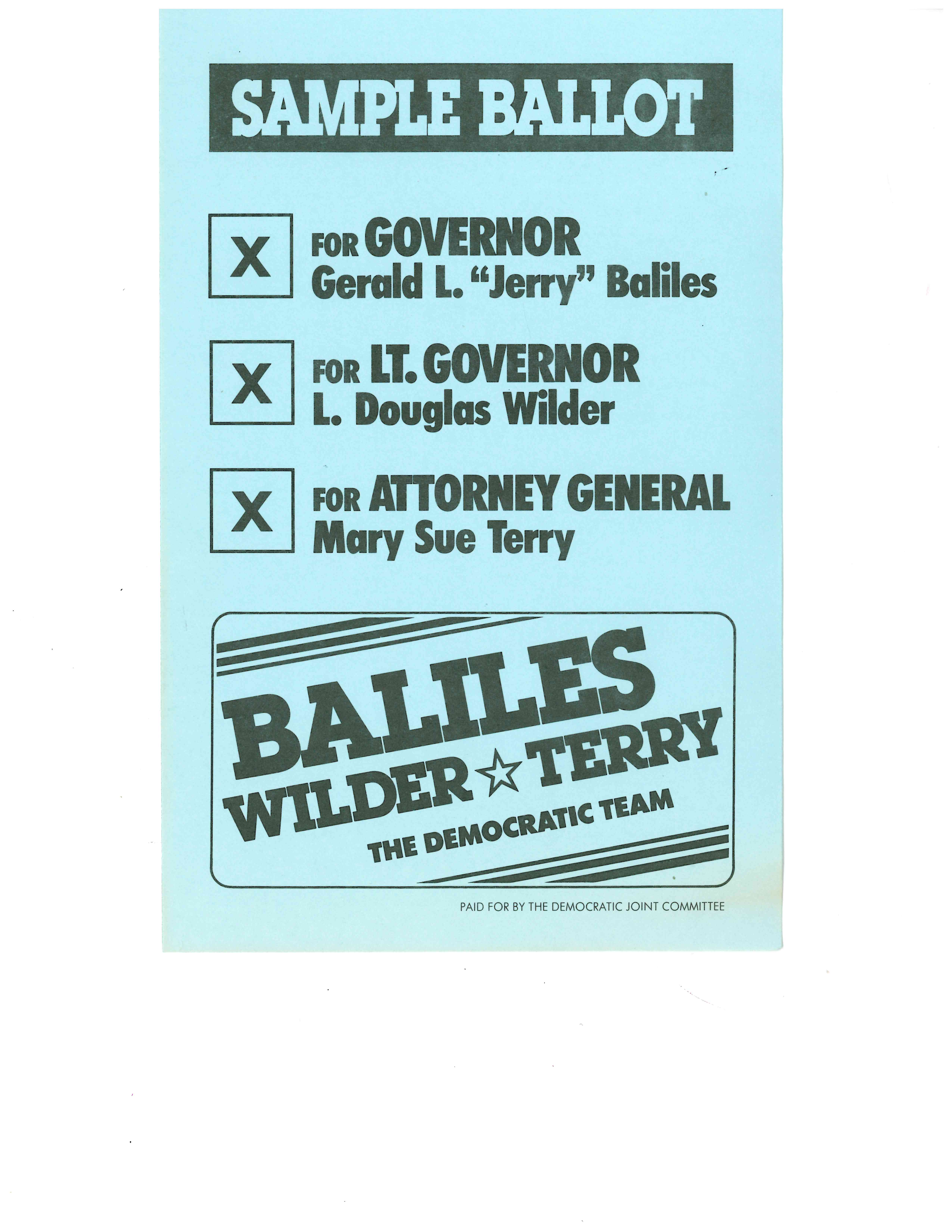 Vote For Me! Governor's Election Records at the Library of Virginia