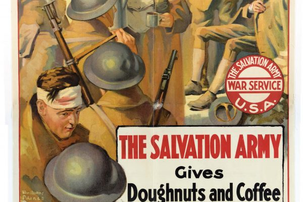 Salvation Army gives doughnuts