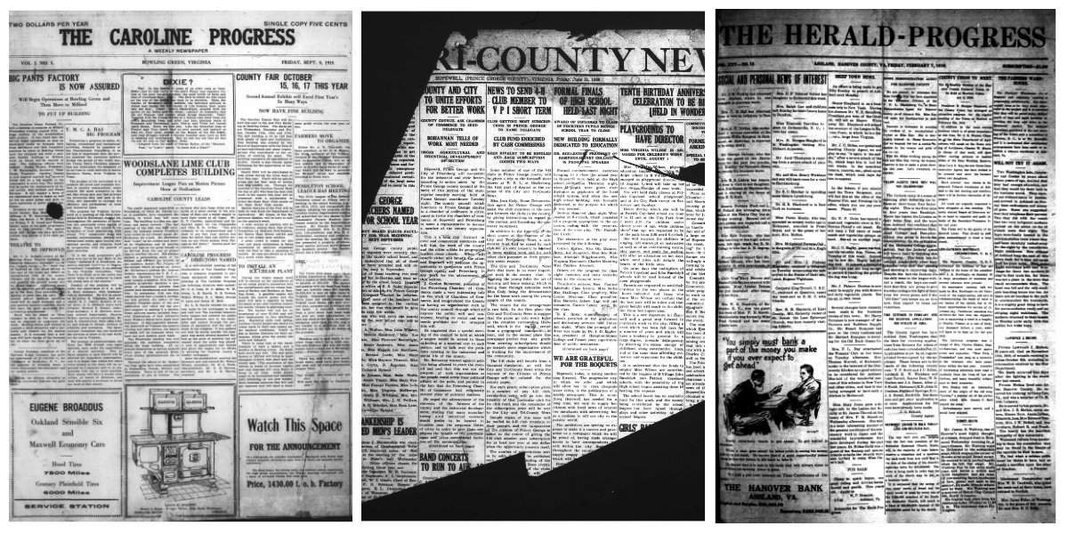 """""""We Are Passing Through A Metamorphosis From The Old To The New."""" Ashland, Bowling Green & Hopewell: A Virginia Newspaper Vanishing Act"""