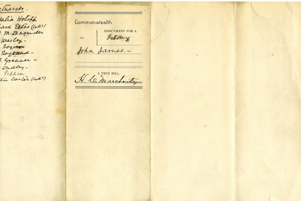 Docketing against John Henry James