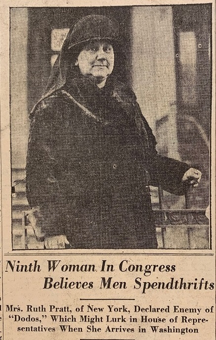 Men are Spendthrifts, Says 1928 Congresswoman.