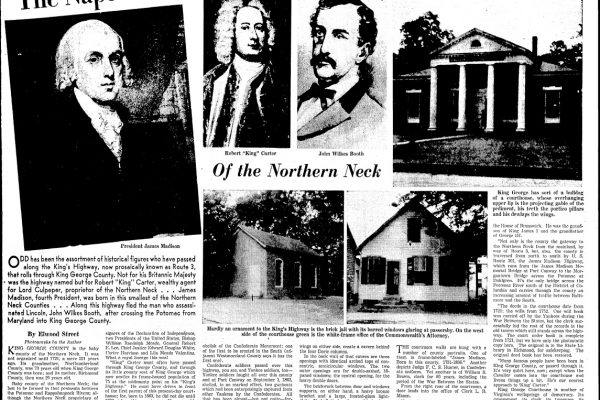 "Elwood Street, ""The Nape of the Northern Neck"", Richmond Times-Dispatch, 10 May 1942."