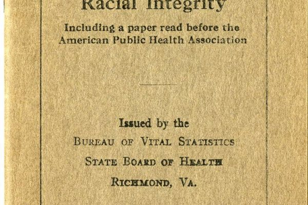 Eugenics pamphlet. State Government Records Collection, Library of Virginia, Richmond, Va.