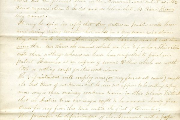 Stonecutters petition, 1851 (2 of 3)