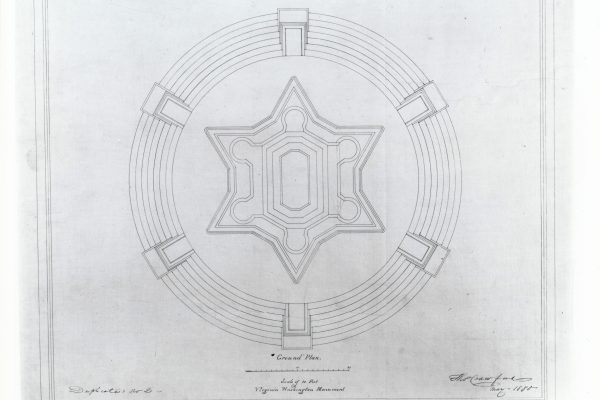 Architectural plan by Thomas Crawford.