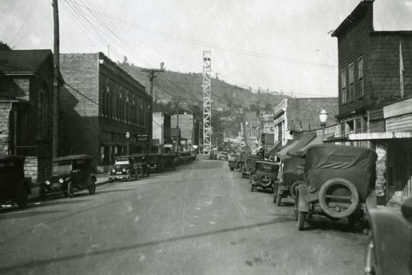 Street scene in Appalachian, Virginia, undated.