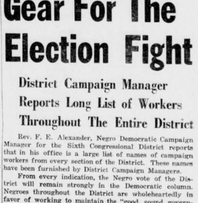 """""""Sixth District Goes Into High Gear..."""" 17 October 1953."""
