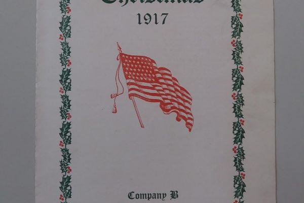 Company B, 318th Infantry, National Army (Camp Lee), Christmas dinner menu, 1917.