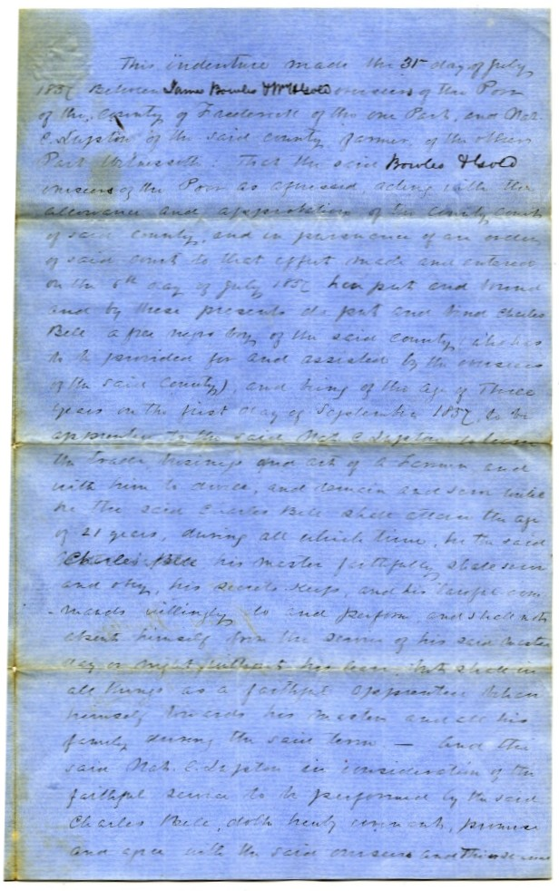 African American Indentures Virginia